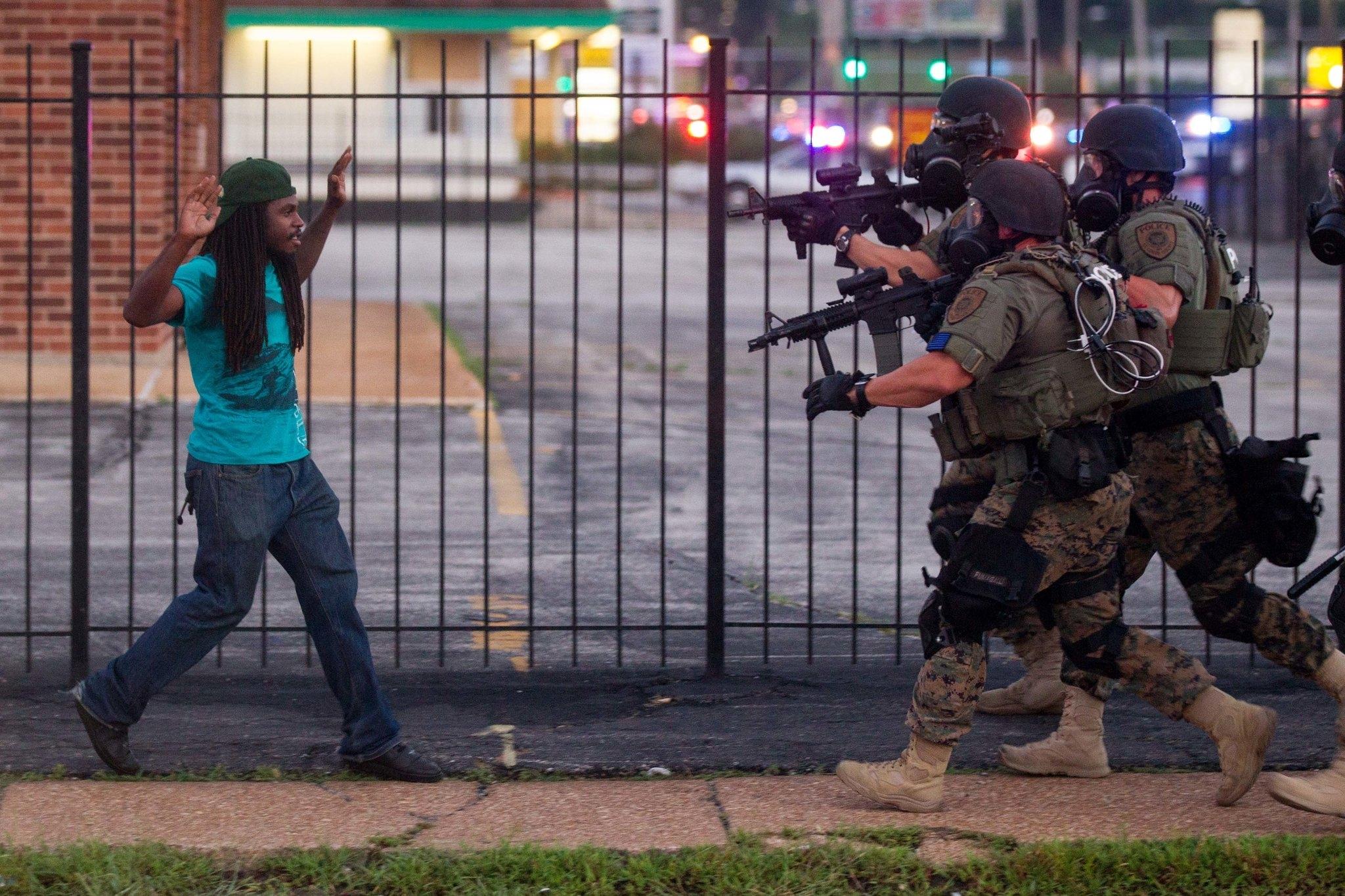 Riot Police Confront a Protestor