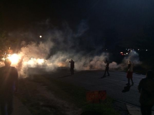 Tear Gas In Ferguson