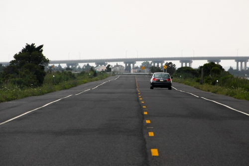 Road at the Jersey Shore
