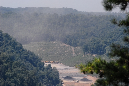 View of Worksite From Overlook