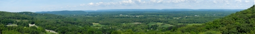 Panorama of Scenic Overlook in Eastern Pennsylvania